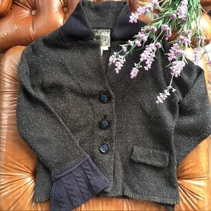 Anthropology curio knit button flare sweater small